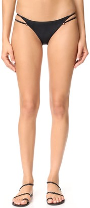 Vix Women's Solid Black Piercing Full Coverage Bikini Bottom