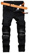 Mada Men's Skinny Denim Jeans Stylish Casual Long Trousers