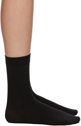 Wolford Black Cotton 80 Socks