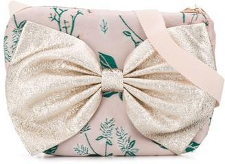 Hucklebones London Bow-Embellished Floral-Print Shoulder Bag