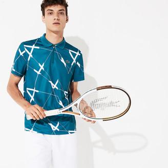 Lacoste Men's SPORT Graphic Print Breathable Pique Tennis Polo