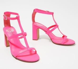 Vince Camuto Leather Strappy Heeled Sandals - Belindah