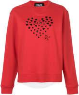 Karl Lagerfeld heart applique sweatshirt