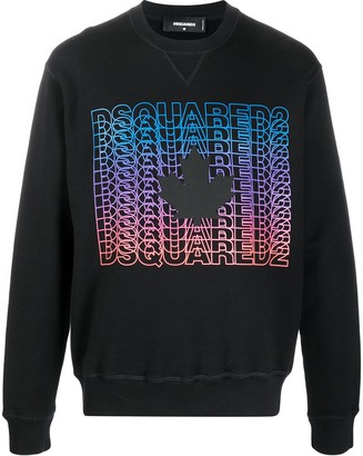DSQUARED2 Repeat Gradient Logo Sweatshirt