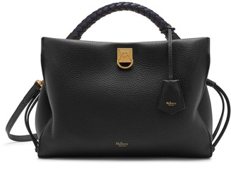 Mulberry Iris Black Heavy Grain and Silky Calf Midnight-Black handle