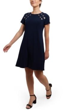 MSK Grommet Fit & Flare Dress