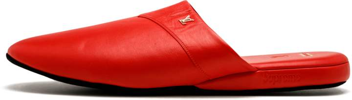 Louis Vuitton Hugh Slipper - 'Louis Vuitton X Supreme' - Red