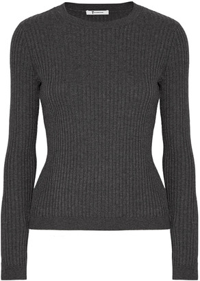 Alexander Wang Ribbed-knit Merino Wool-blend Top