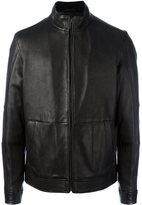 Michael Kors zipped leather jacket - men - Leather/Polyester - XL