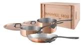 Mauviel Stainless Steel Cookware Set with Crate (5 PC)
