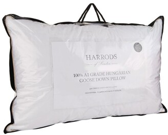 Harrods 100% A1 Grade Hungarian Goose Down Standard Soft Pillow