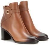Salvatore Ferragamo Florian Leather Ankle Boots