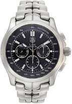 TAG Heuer Tag Heuer Pre-Owned Calibre 36 Black Chronograph Dial Stainless Steel Bracelet Mens Watch CT511A