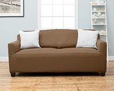 Dawson Collection Twill Strapless Slipcover. Form Fit, Slip Resistant, Stylish Furniture Shield / Protector Featuring Soft, Lightweight Fabric. By Home Fashion Designs. (Sofa, Toffee)