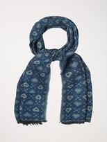 White Stuff Heart jacquard midweight scarf