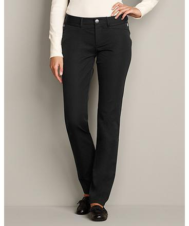 Eddie Bauer Slightly Curvy StayShape® Zip-Pocket Pants