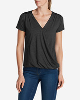 Eddie Bauer Women's Girl On The Go Wrap It Up Top - Small Stripe