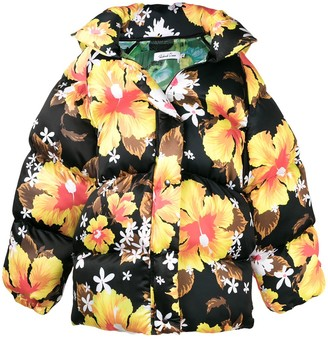 Richard Quinn Oversized Floral Print Padded Jacket