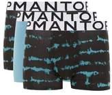 Topman Mens Multi Dark Blue Tie Dye Trunks 3 Pack*