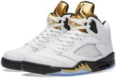 Nike Jordan Men's Air 5 Retro, OLYMPICS-WHITE/BLACK-MTLC GOLD COIN (US)