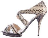 Oscar de la Renta Python Platform Sandals