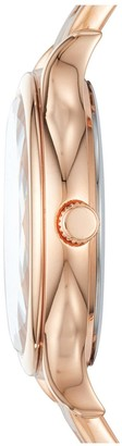 Fossil Rose Gold Sunray Dial Rose Gold Stainless Steel Bracelet Ladies Watch