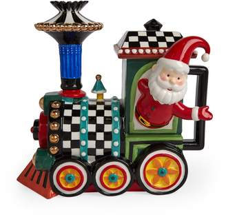 Mackenzie Childs Christmas Train Teapot