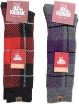 Kodiak Women's 2 Pairs of Soft Thermal Plaid Crew Socks, US Shoe Size 4-10