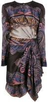 Etro printed draped asymmetric dress
