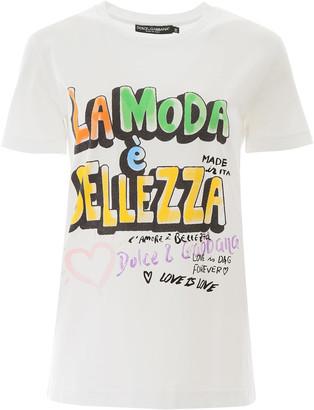 Dolce & Gabbana La Moda E Bellezza Print T-shirt