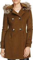 BNCI Faux Fur-Trim Wool Blend Coat - 100% Bloomingdale's Exclusive