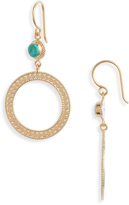 Anna Beck Turquoise Open Circle Drop Earrings