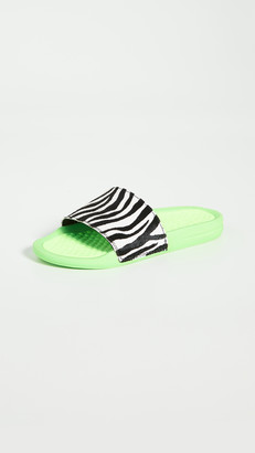 APL Athletic Propulsion Labs Athletic Propulsion Labs Iconic Calf Hair Slides