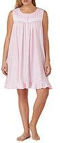 Eileen West Geometric Ruffled Jersey Nightgown