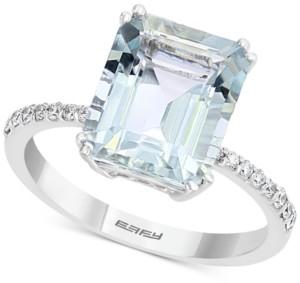 Effy Amethyst (3-7/8 ct. t.w.) & Diamond (1/6 ct. t.w.) Ring in 14k Rose Gold
