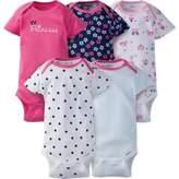 Gerber ONESIES® 5-Pack Princess Short Sleeve Bodysuits