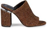 Alexander Wang Avery Velvet Leopard Block Heel Mule Sandals