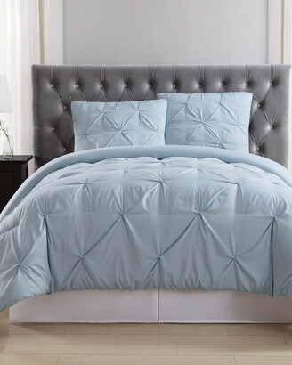 Truly Soft Pleated Light Blue Comforter Set