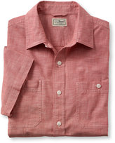 L.L. Bean Lakewashed Chambray Shirt, Slightly Fitted Short-Sleeve