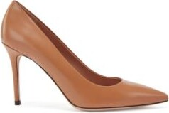 HUGO BOSS Pointed-toe court shoes in Italian leather