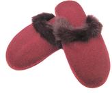 Portolano Rabbit Fur & Cashmere Slippers