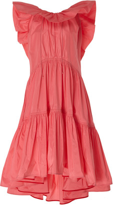 Roksanda Alessa Ruffled Cotton-Silk Blend Maxi Dress