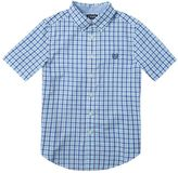 Chaps Boys 4-7 Blue Gingham Plaid Short Sleeve Shirt