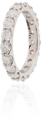 EÉRA 18kt White Gold Diamond-Embellished Hoop Charm