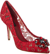 Dolce & Gabbana Bellucci 90 Embellished Taormina Lace Pump