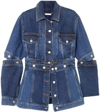 Alexander McQueen Convertible Denim Peplum Jacket