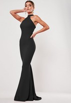 Missguided Black High Neck Maxi Dress