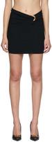 Versace Black Draped Miniskirt