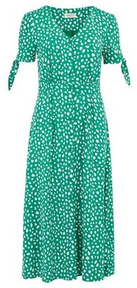 Sugarhill Boutique Hermione Painterly Spot Midi Dress - 8