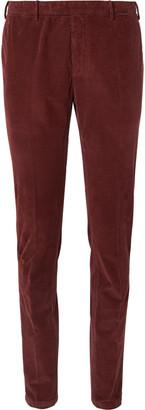 Boglioli Sand Slim-Fit Tapered Cotton-Blend Corduroy Suit Trousers